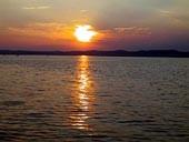 balaton západ slnka