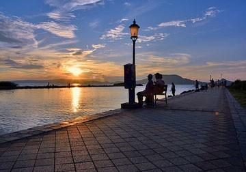 Balaton - západ slunce
