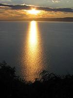 Fonyód západ slnka nad Balatonom