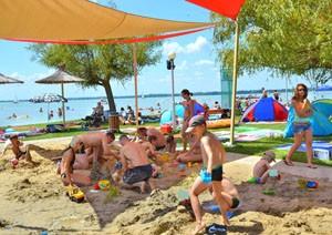 Pláž Lidó na brehu Balatonu - Gyenesdiás