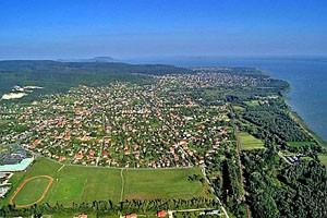 Gyenesdiás - letecký pohled