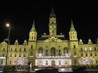 Město Győr v noci