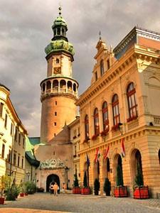 Požární věž v centru města Sopron
