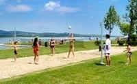 sportování na břehu Velence