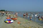 Pláž Lidó na severním břehu Balatonu - Vonyarcvashegy